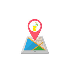 night club map pointer flat icon mobile gps vector image