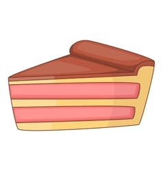 Piece of cake icon cartoon style vector image