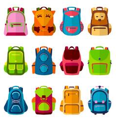 school kids school backpack back to school vector image