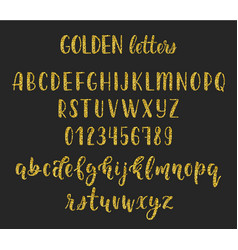 gold glitter handwritten latin calligraphy brush vector image vector image