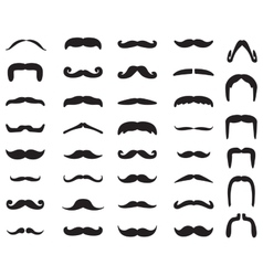 Mustache icon set vector image vector image