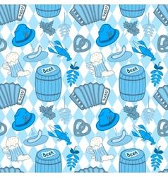 Oktoberfest seamless pattern vector image