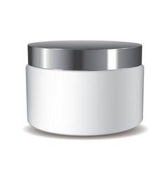 3d cream pot vector image