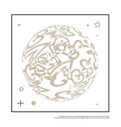 3d decorative line art globe for layout design in vector image