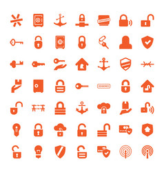 49 secure icons vector image