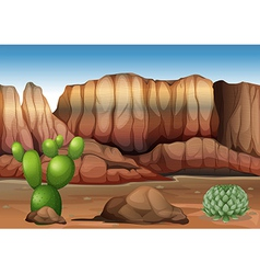 A desert with cacti vector