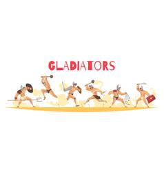 Ancient rome gladiators vector