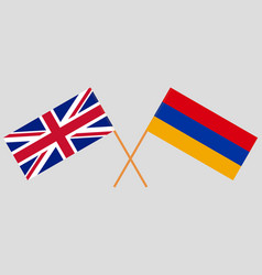 Armenia and uk armenian and british flags vector