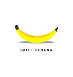 Banana smile template design vector