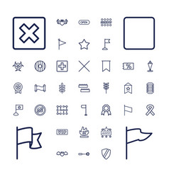 Banner icons vector