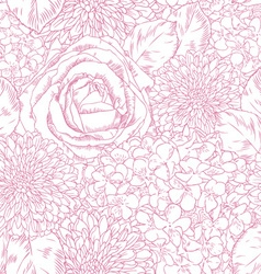beautiful floral print seamless pattern with rose vector image