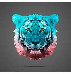 Bengal tiger poly Side light Rose Quartz vector