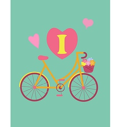 Bicycle concept vintage colour poster vector
