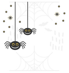 Black and golden abstract cute smiling hanging vector
