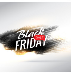 black friday sale background with grungy paint vector image