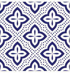 Blue and white seamless pattern geometric vector