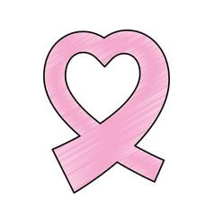 Breast cancer campaign symbol vector