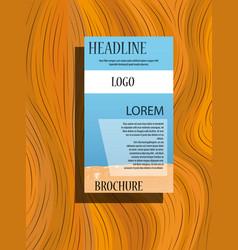 Business fold brochure design corporate business vector