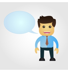 Business man cartoon with speech balloon vector