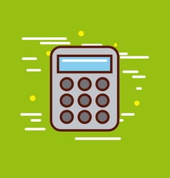 Calculator poster image vector