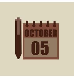 Calendar pen pointer agend vector