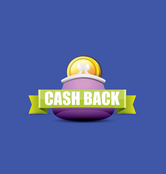 Cash back icon with coins and wallet vector