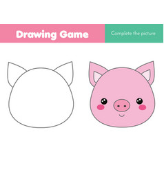 Children educational game complete the picture vector