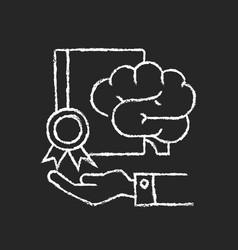 Corporate intellectual property chalk white icon vector