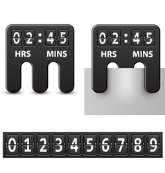 Countdown attached mechanical timer vector