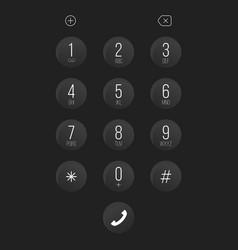 creative of phone dial keypad vector image