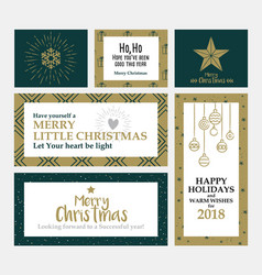 cristmas cards design 2 vector image