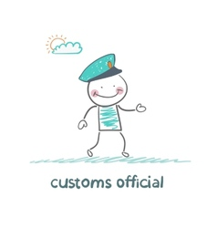 customs officer goes to work vector image