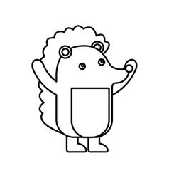 Cute purcopine animal icon vector