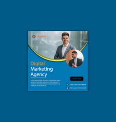 Digital marketing agency social media banner templ vector