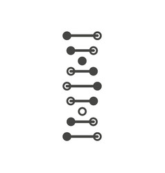 dna helix black icon isolated on white vector image