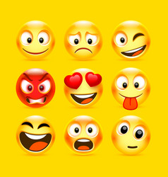 emoji and sad icon set collection vector image
