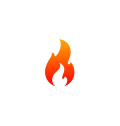 fire flame icon template hot red orange fire vector image