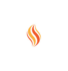 fire flame logo template icon vector image