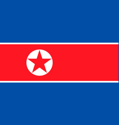 Flag north korea vector