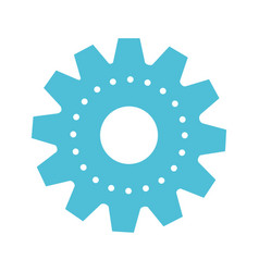 gear machinery colorful silhouette on white vector image