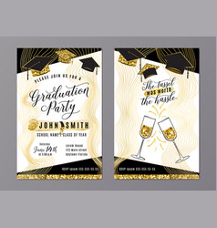graduation party class 2018 vertical invitation vector image
