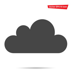 Gray cloud icon isolated on background modern fla vector