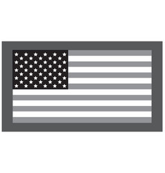 grayscale flag vector image