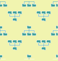 Green folder tree icon isolated seamless pattern vector