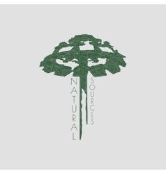 Green tree icon vector