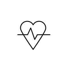 Heart rate icon vector