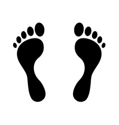 Human foot steps vector
