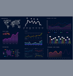 interface screen with data infographic hud style vector image