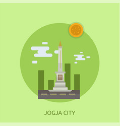 Jogja city conceptual design vector