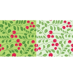 Light green pattern with berries - seamless vector